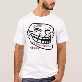 T-shirt de blanc de meme de problème !