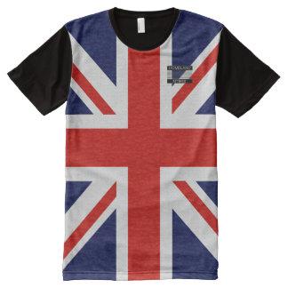 T-shirt de blanc de rouge bleu de drapeau du