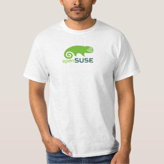 T-shirt de blanc d'OpenSUSE