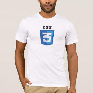 T-shirt de blanc du logo CSS3