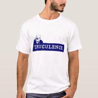 T-shirt de bleu d'agressivité