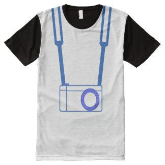 T-shirt de bleu d'appareil-photo de MC