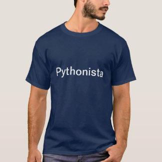 T-shirt de bleu de Pythonista