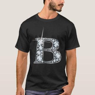 """T-shirt de Bling de diamant de """"B"""""""
