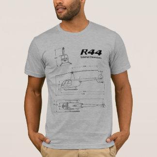 T-shirt de Bluprint d'hélicoptère de Robinson R44