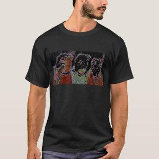 """T-shirt de """"broderie"""" de lampes au néon"""
