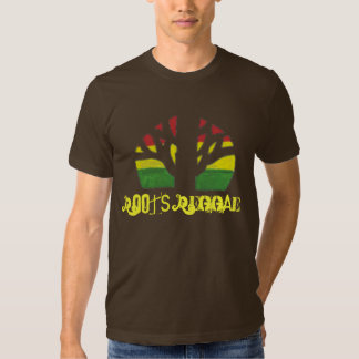 T-shirt de Brown des hommes de reggae de racines