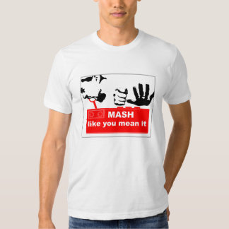 T-shirt de broyeur de bouton