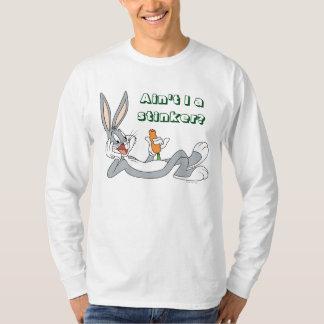 T-shirt ™ de BUGS BUNNY se trouvant vers le bas mangeant