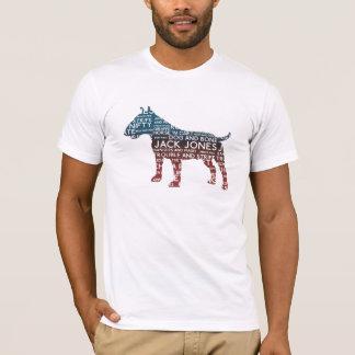 T-shirt de bull-terrier d'argot de cockney