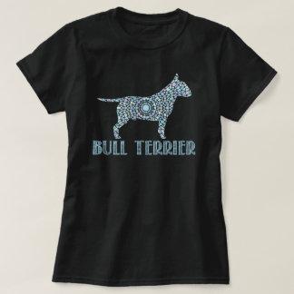 T-shirt de bull-terrier de mandala