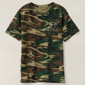 T-shirt de camo de logo de Jk