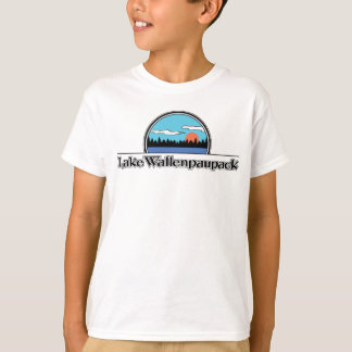 T-shirt de camp de Wallenpauapack de lac rétro