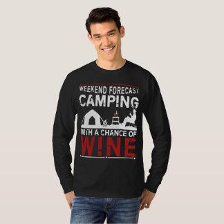T-shirt de camping de prévision de week-end