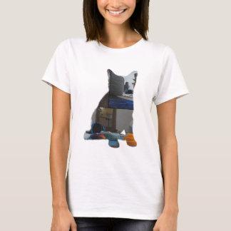 T-shirt de capture de courant de silhouette de