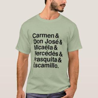 T-shirt de caractères de Carmen