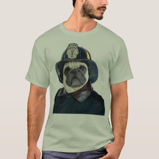 T-shirt de carlin de pompier