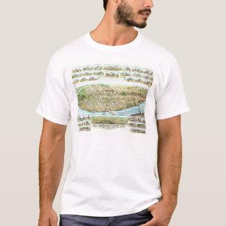 T-shirt de carte de Bradford le Massachusetts