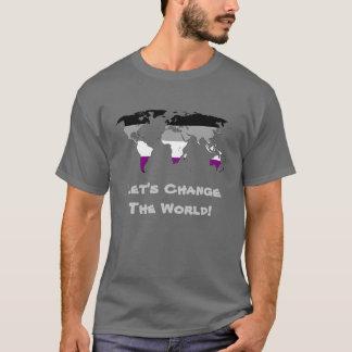 T-shirt de carte de carte du monde de fierté