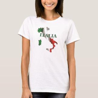 T-shirt de carte de dames Italie