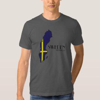 T-shirt de carte de drapeau de la Suède