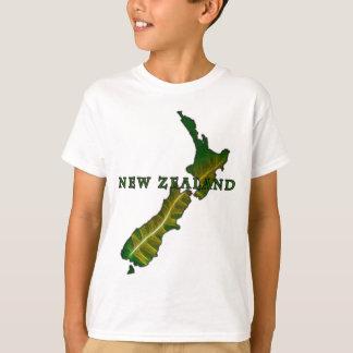 T-shirt de carte de fougère de la Nouvelle Zélande