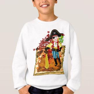 T-shirt de carte de garçon et de trésor de pirate