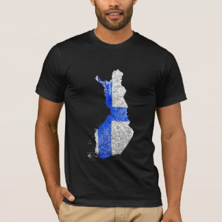 T-shirt de carte de la Finlande Flagcolor
