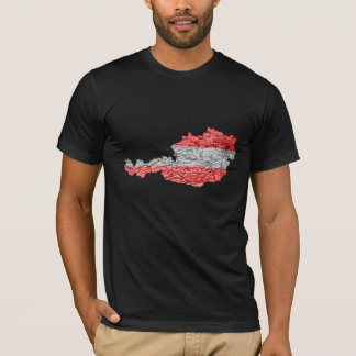 T-shirt de carte de l'Autriche Flagcolor