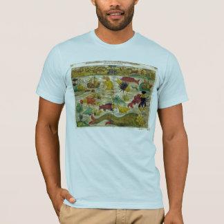 T-shirt de carte de monstre de mer