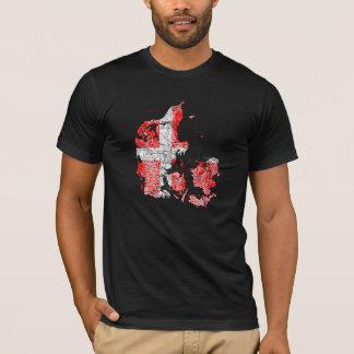 T-shirt de carte du Danemark Flagcolor