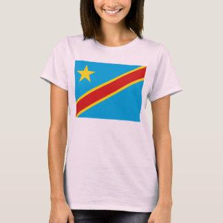 T-shirt de carte du drapeau X de Congo-Kinshasa