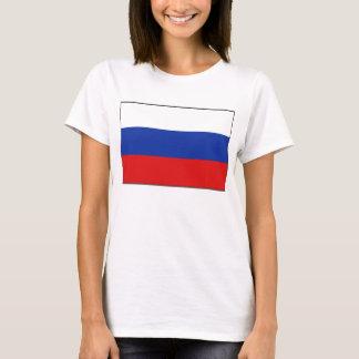 T-shirt de carte du drapeau X de la Russie