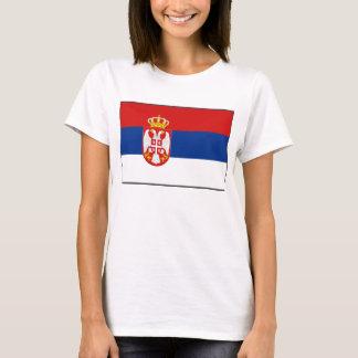 T-shirt de carte du drapeau X de la Serbie