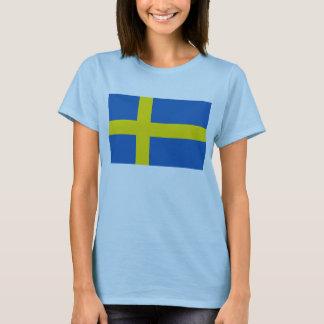 T-shirt de carte du drapeau X de la Suède