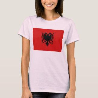 T-shirt de carte du drapeau X de l'Albanie
