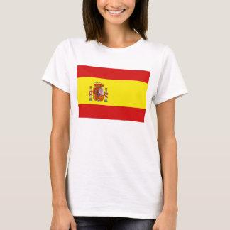 T-shirt de carte du drapeau X de l'Espagne