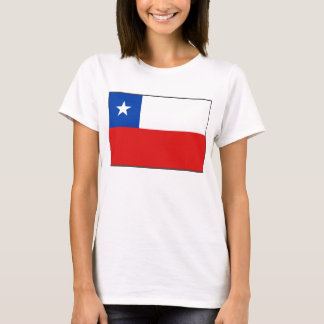 T-shirt de carte du drapeau X du Chili