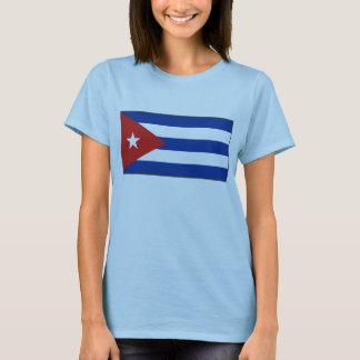 T-shirt de carte du drapeau X du Cuba