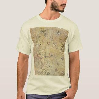 T-shirt de carte du monde de Piri Reis