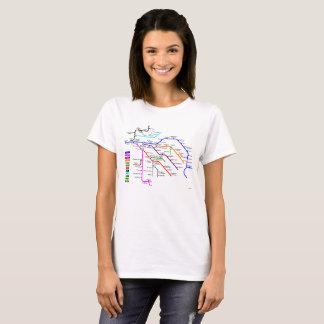 T-shirt de carte du Val de Loire pour des dames