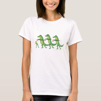 T-shirt de ch?ur d'alligator et de grenouille
