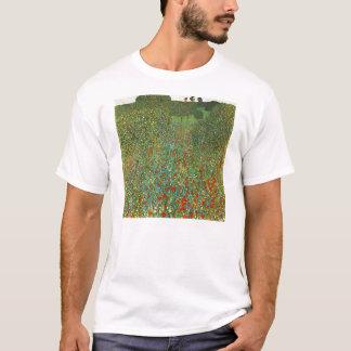 T-shirt de champ de pavot de Gustav Klimt