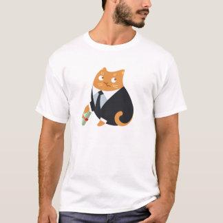 T-shirt de chat de paiement illicite