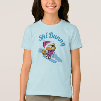 T-shirt de chat de ski de lapin de ski par des