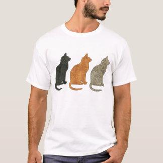T-shirt de chat de trois chats