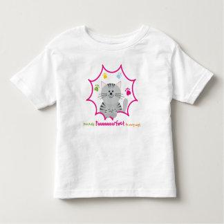 T-shirt de chat d'enfant en bas âge de