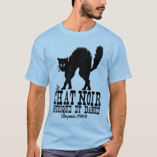 T-shirt de chat noir
