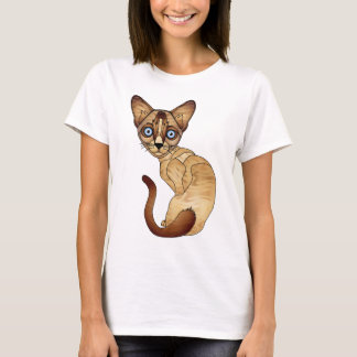 T-shirt de chat siamois