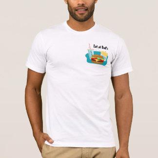 T-shirt de cheeseburger avec les fritures et la
